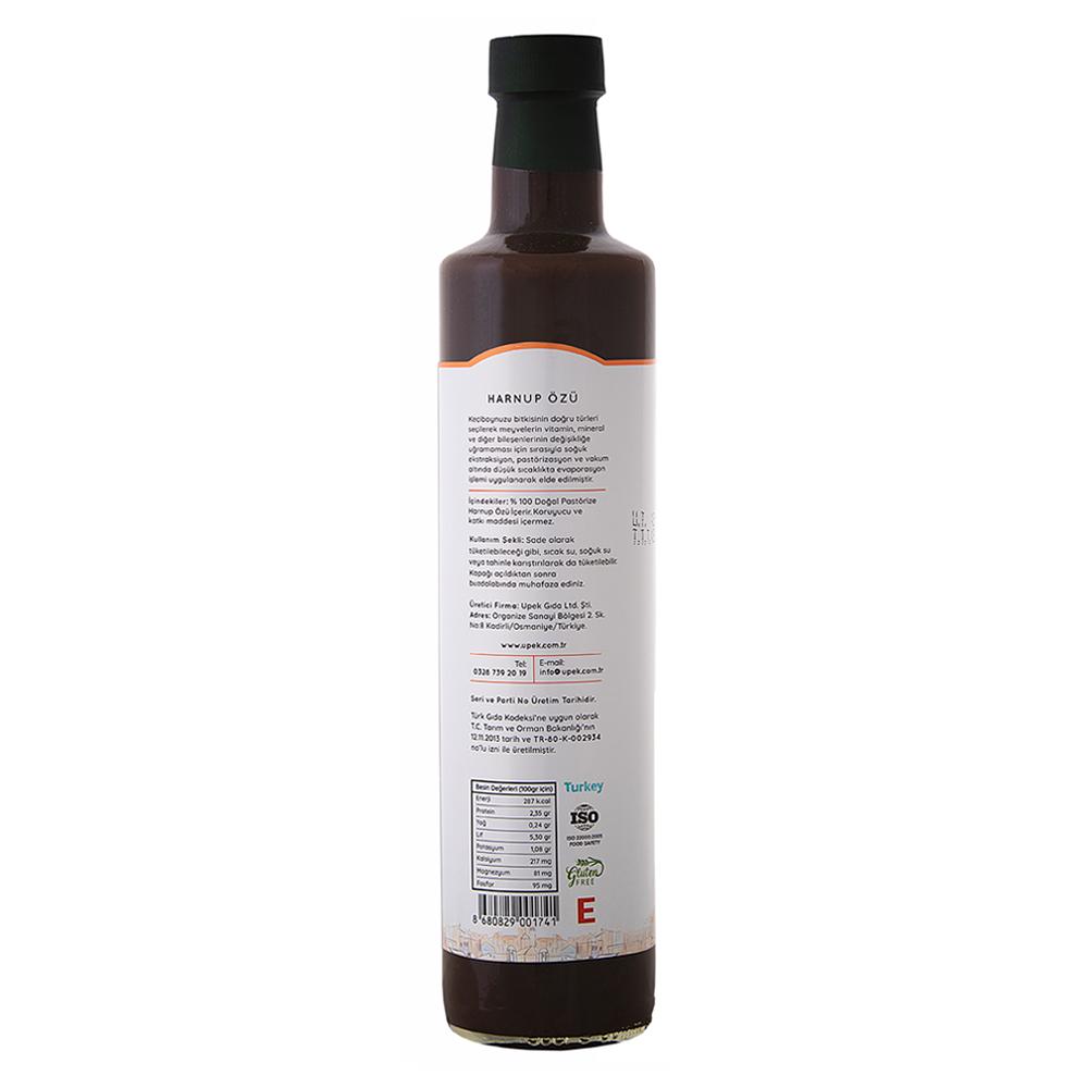 UPEK Harnup (Keçiboynuzu) Özü - 500 ml / Şişe arka görünümü