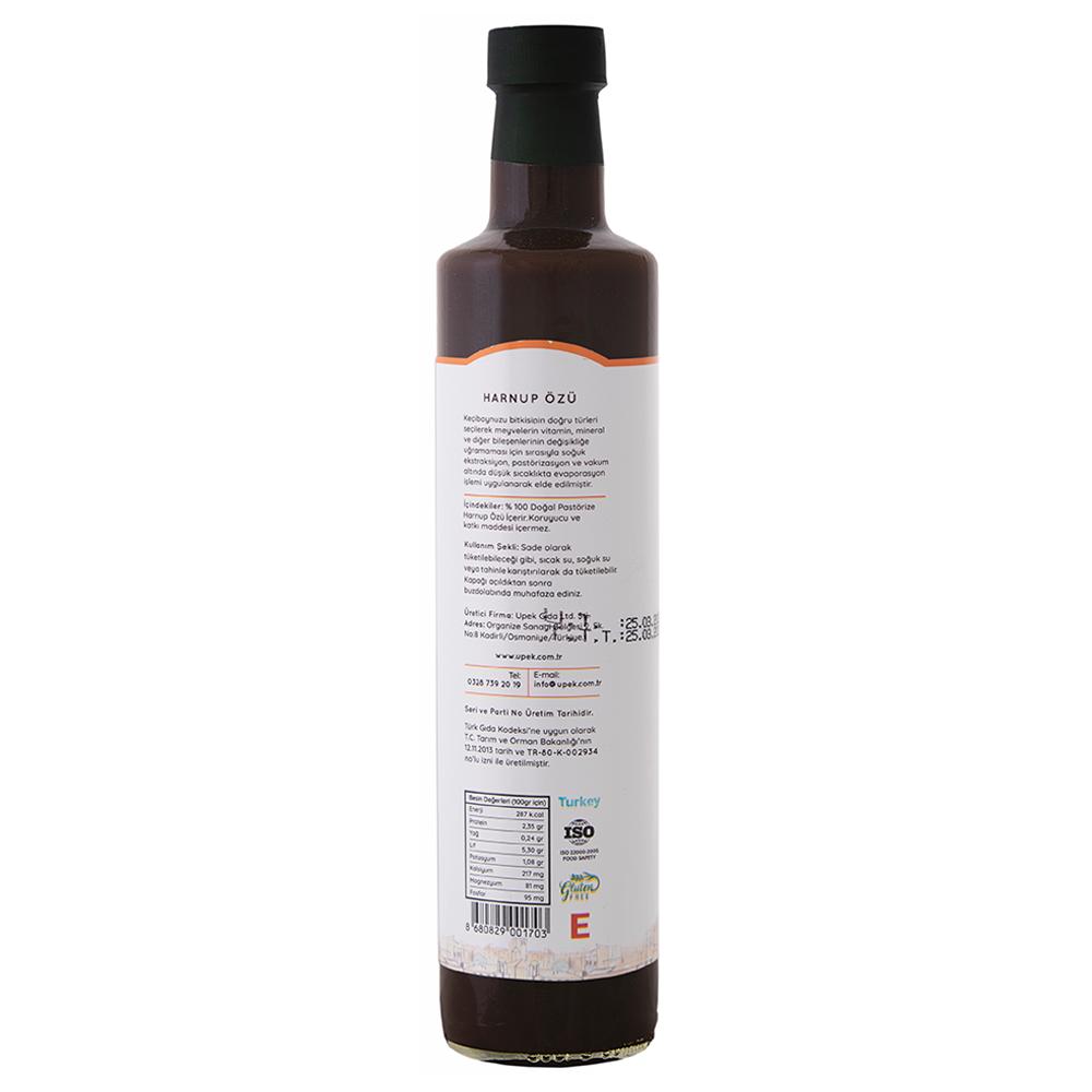 UPEK Harnup (Keçiboynuzu) Özü - 250 ml / Şişe arka görünümü